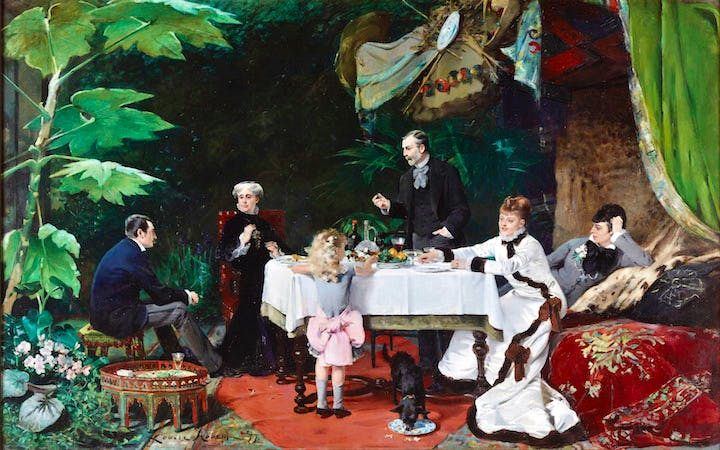 Lunch in the Greenhouse (1877), Louise Abbéma. Musée des Beaux- Arts, Pau, France; Courtesy American Federation of Arts