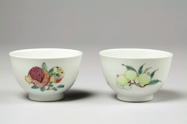 Pair of sanduo cups, China, Yongzheng period (1678–1735), ht 8.7cm. Sotheby's London (£1.2–£1.8m)