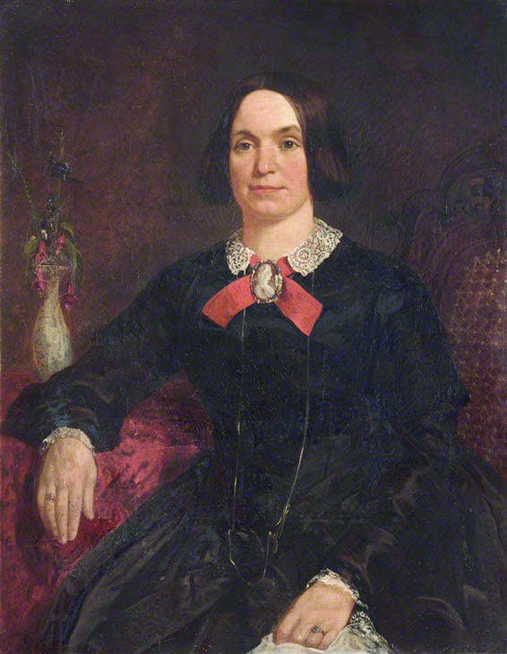 Portrait of a Lady in a Black Dress with a Cameo on a Red Ribbon. Artist unknown. Peterhouse, University of Cambridge