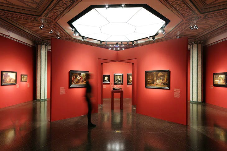 Exhibition view, 'The Birth of the Art Market: Rembrandt, Ruisdael, van Goyen and the artists of the Dutch Golden Age'. © Bucerius Kunst Forum, 2017. Photo: Ulrich Perrey
