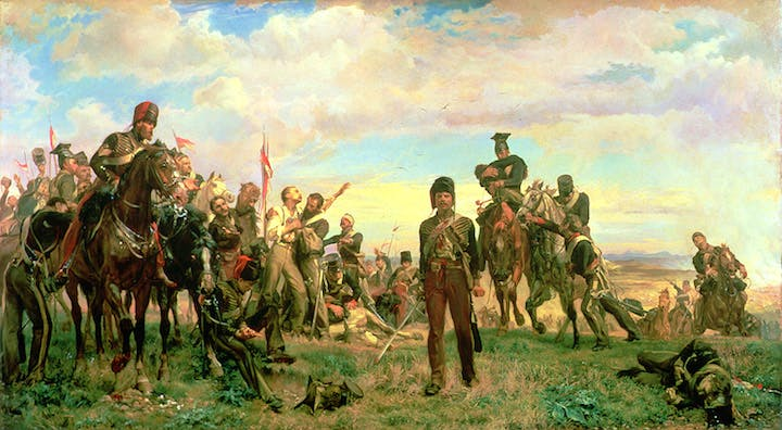 Balaclava (1876), Lady Elizabeth Butler. Manchester Art Gallery