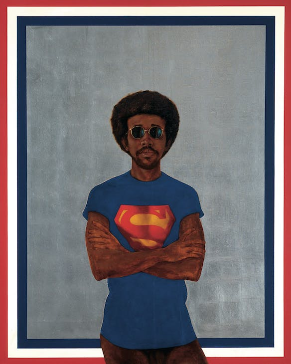 Icon For My Man Superman (Superman Never Saved Any Black People–Bobby Seale) (1969), Barkley Hendricks. Courtesy of the artist and Jack Shainman Gallery, New York; © Barkley Hendricks