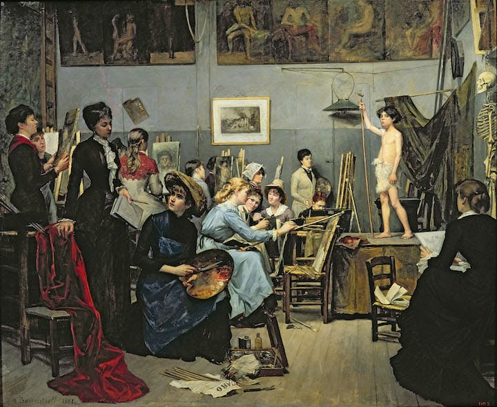 In the Studio (1881), Marie Bashkirtseff. Photo: Dnipropetrovsk/ Bridgeman Images. Courtesy American Federation of Arts