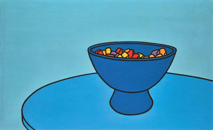 Sweet Bowl (1966), Patrick Caulfield. Sotheby's London, £300,000–500,000. © Sotheby's