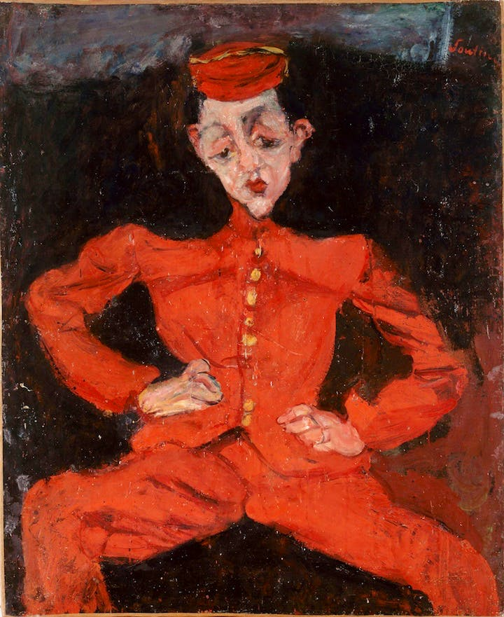 Bellboy (c. 1925), Chaïm Soutine. © Courtauld Gallery, Centre Georges Pompidou