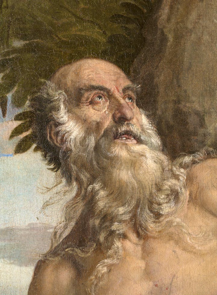 St. Jerome in the Wilderness (detail; 1566–67), Paolo Veronese. Photo: Ufficio Beni Culturali del Patriarcato di Venezia