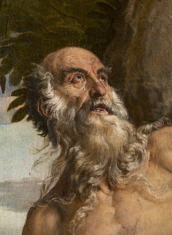 St. Jerome in the Wilderness (detail; 1566–67), Paolo Veronese. Photo: Ufficio Beni Culturali del Patriarcato di Venezia