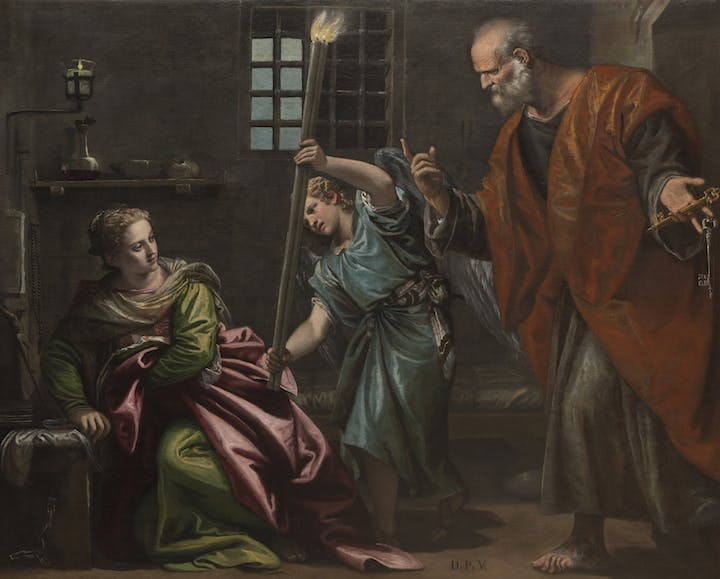 St Agatha Visited in Prison by St Peter (1566–67), Paolo Veronese. Photo: Ufficio Beni Culturali del Patriarcato di Venezia