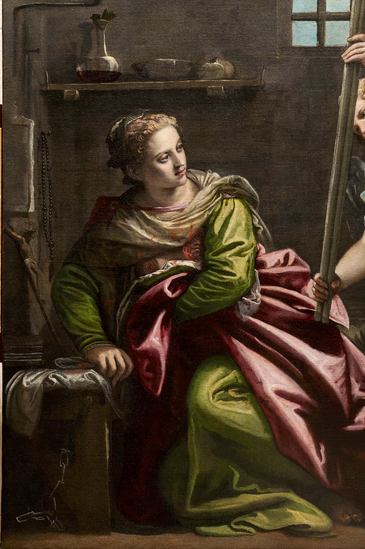 St. Agatha Visited in Prison by St. Peter (detail; 1566–67), Paolo Veronese. Photo: Ufficio Beni Culturali del Patriarcato di Venezia