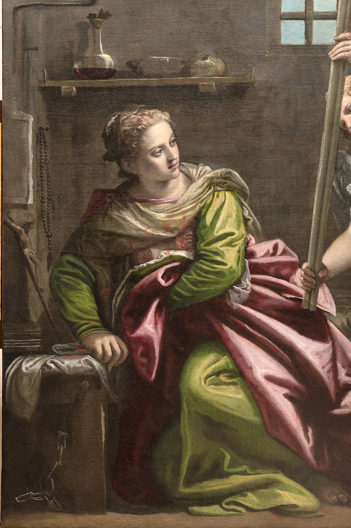St. Agatha Visited in Prison by St. Peter (detail; 1566–67), Paolo Veronese. Photo: Ufficio Beni Culturali del Patriarcato di Venezia