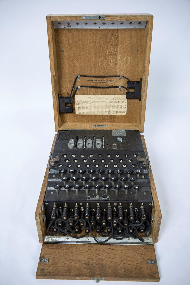 Enigma machine. Crown copyright