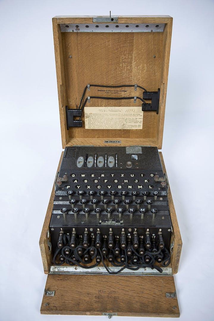 Enigma machine. Crown copyright