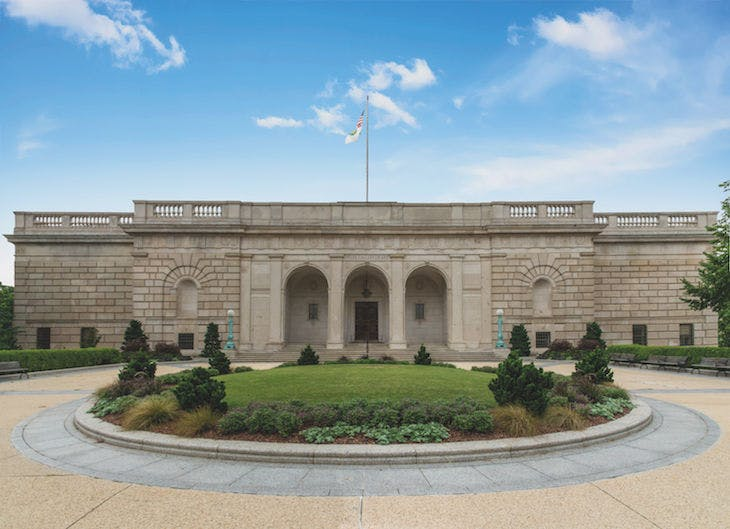 The Freer Gallery of Art, Washington, D.C., which opened to the public in 1923