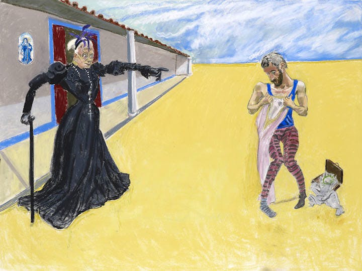 Get Out of Here You and Your Filth (2013), Paula Rego. © Paula Rego, courtesy of Marlborough Fine Art