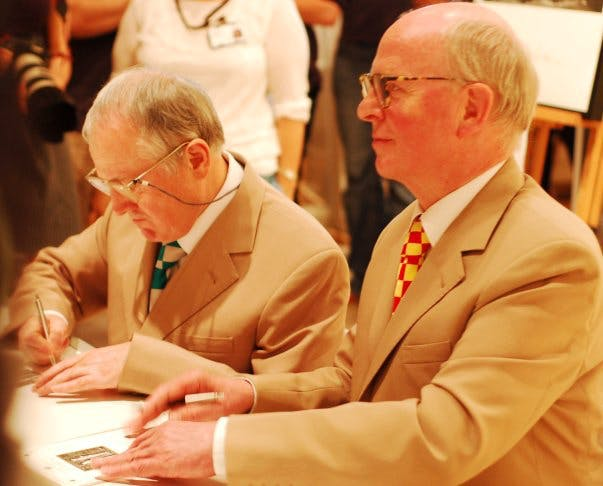 Gilbert and George. Photo: Wikimedia Commons