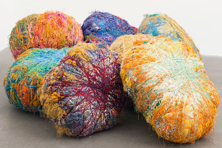 Grand Boules (2009), Sheila Hicks. © Sheila Hicks. Courtesy of Alison Jacques Gallery, London