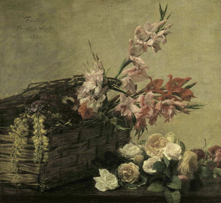 Gladioli and Roses (1880), Henri Fantin-Latour. Courtesy Guildhall Art Gallery