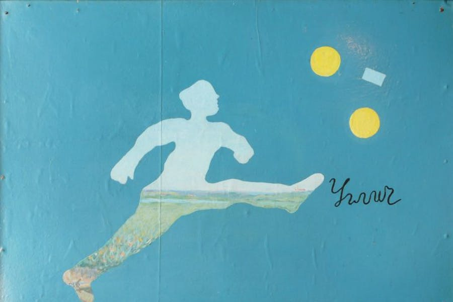 Soccer Player, (1964), Ilya Kabakov, private collection. © Ilya and Emilia Kabakov
