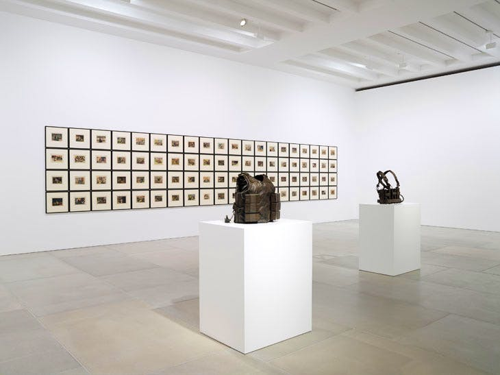 'The Disasters of Everyday Life', installation view at Blain|Southern, 2017. Courtesy the artists and Blain|Southern. Photo: Peter Mallet