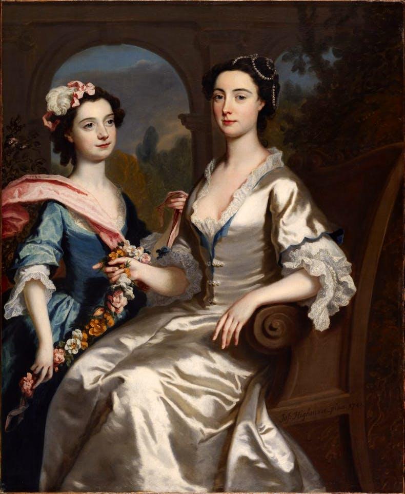 Mrs Elizabeth Birch and her daughter, (1741), Joseph Highmore