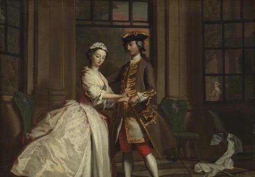 Pamela and Mr B. in the Summer House, by Joseph Highmore, Joseph Higmore, The Fitzwilliam Museum.