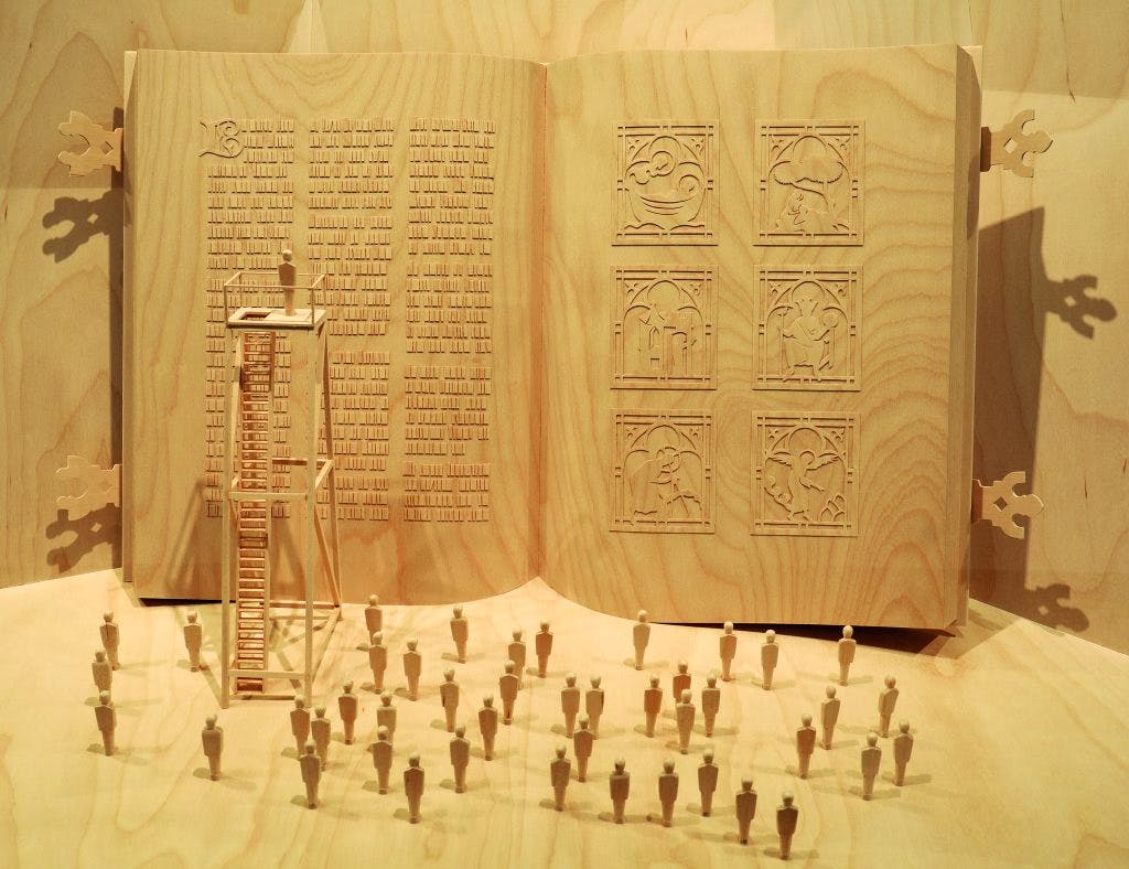 Model for Ilya and Emilia Kabakov's unrealised project 'The Largest Book in the World', (2015)