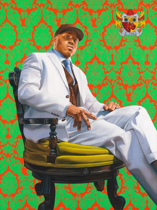 LL Cool J (2005), Kehinde Wiley. National Portrait Gallery, Smithsonian Institution; on loan from LL Cool J. © Kehinde Wiley