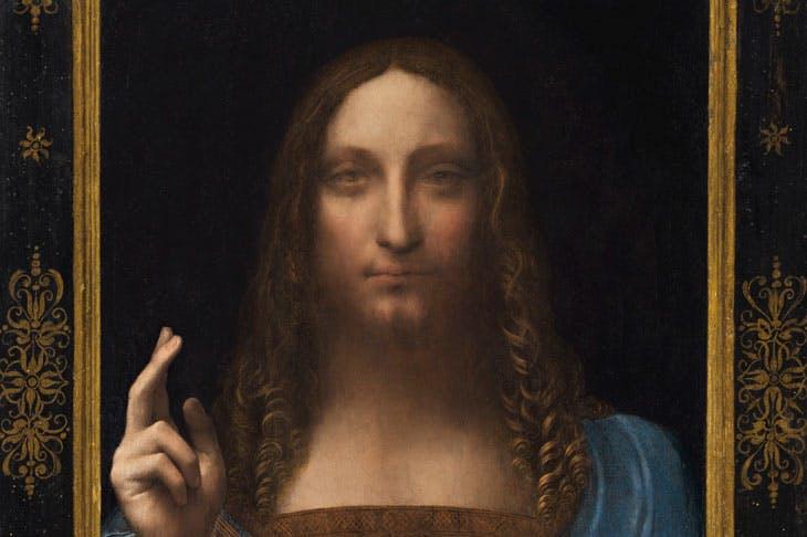 Salvator Mundi (c. 1500), Leonardo da Vinci. Image courtesy Christie's