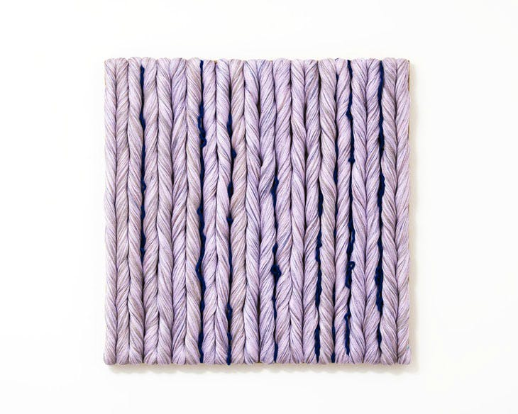 Lilas (2014), Sheila Hicks. © Sheila Hicks. Courtesy of Alison Jacques Gallery, London