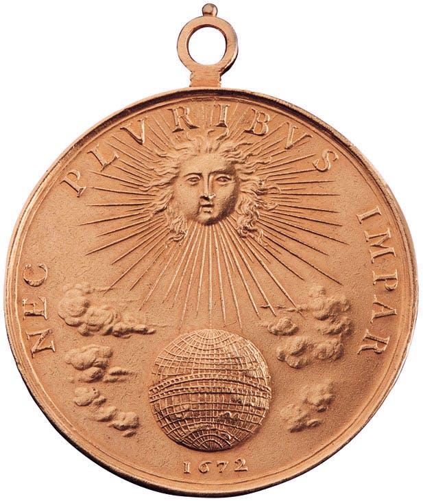 Portrait medal of Louis XIV reverse (1672), Jean Warin. Christie's Paris, €98,500