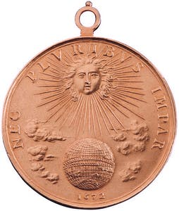 Portrait medal of Louis XIV reverse (1672), Jean Warin. Christie's Paris, €98,500