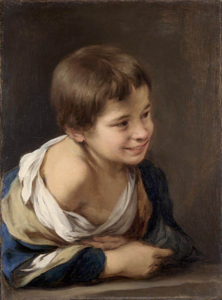A Peasant Boy Leaning on a Sill (ca. 1675), Bartolomé Esteban Murillo. © The National Gallery, London