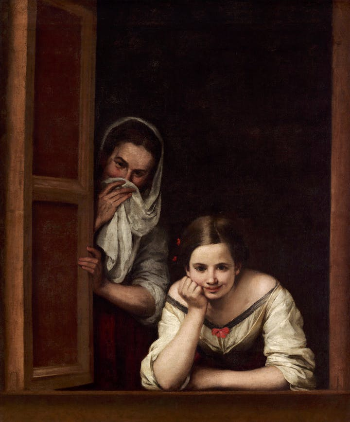 Two Women at a Window (ca. 1655–60), Bartolomé Esteban Murillo. Courtesy National Gallery of Art, Washington