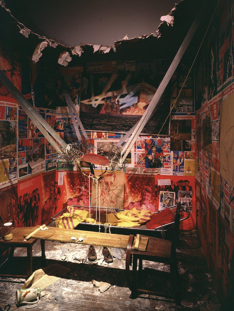 The Man Who Flew Into Space From His Apartment, (1985), Ilya Kabakov, Centre Pompidou, Paris, © Ilya and Emilia Kabakov