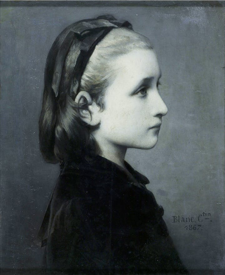 Head of a Girl (1867), Célestin Joseph Blanc. © Victoria and Albert Museum, London