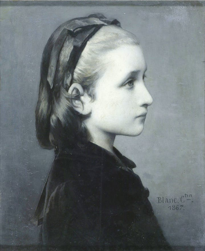 Head of a Girl (1867), Célestin Joseph Blanc. © Victoria and Albert Museum, London