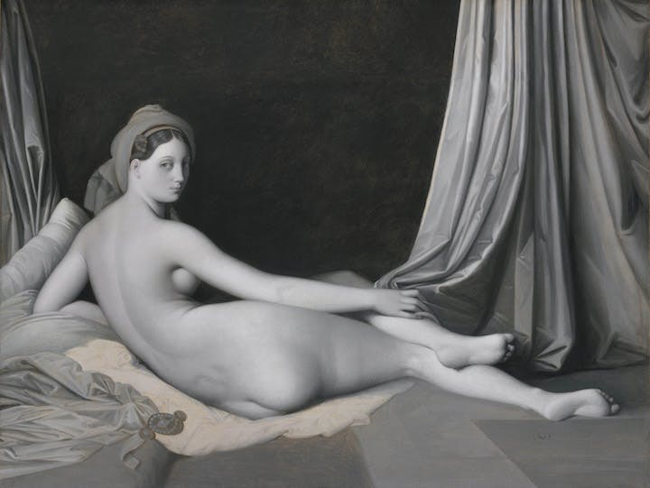 Odalisque in Grisaille (c. 1824–34), Jean-Auguste-Dominique Ingres. © The Metropolitan Museum of Art / Art Resource / Scala, Florence