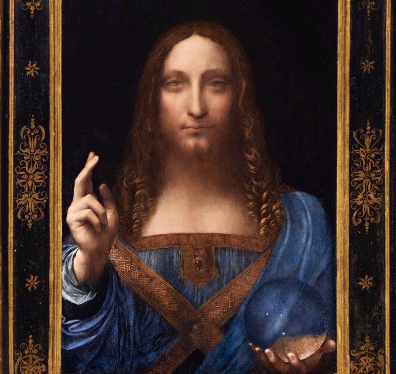 Salvator Mundi (detail) (c.1500), Leonardo Da Vinci.