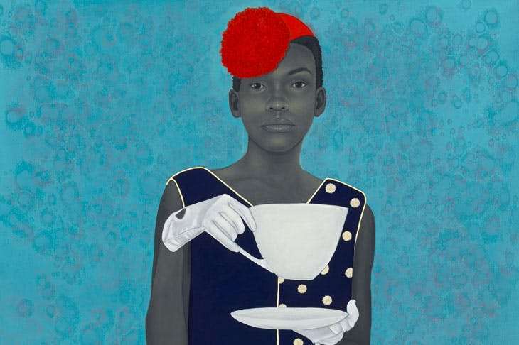 Miss Everything (Unsuppressed Deliverance) (detail; 2013), Amy Sherald. Frances and Burton Reifler. © Amy Sherald