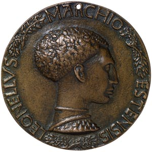 Portrait medal of Leonello d'Este reverse (early 1440s), Antonio Pisano called Pisanello. Benjamin Proust, around £6,500