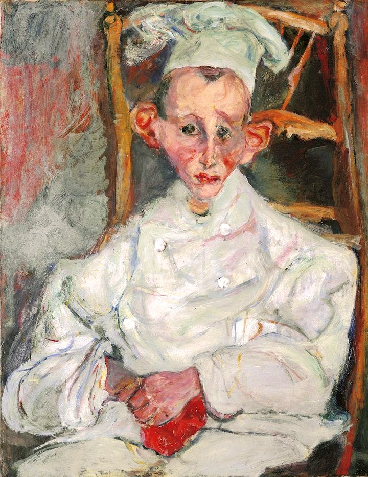 Pastry Cook of Cagnes (1922), Chaïm Soutine. © Courtauld Gallery
