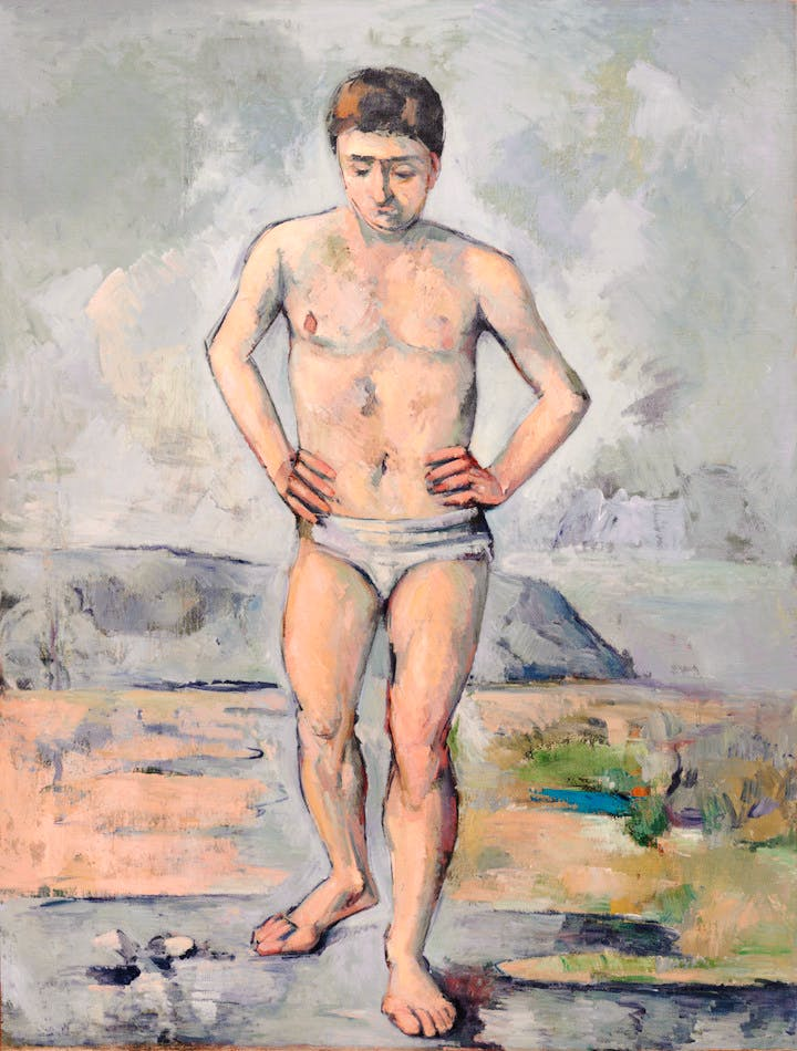 The Bather (c. 1885), Paul Cézanne. Courtesy of the Museum of Modern Art, New York