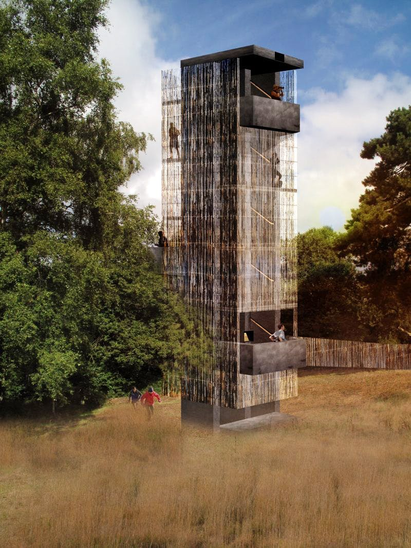 An artist's impression of Sutton Hoo's planned viewing platform