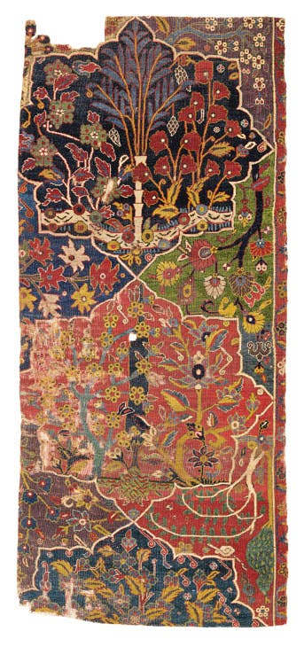 Fragment from the Von Hirsch Garden Carpet (17th-century), Northwest Persia. Sotheby's London, £80,000–120,000. © Sotheby's