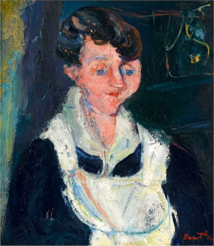 The Waiting Maid (c. 1933), Chaïm Soutine. © Courtauld Gallery, Ben Uri Gallery and Musuem