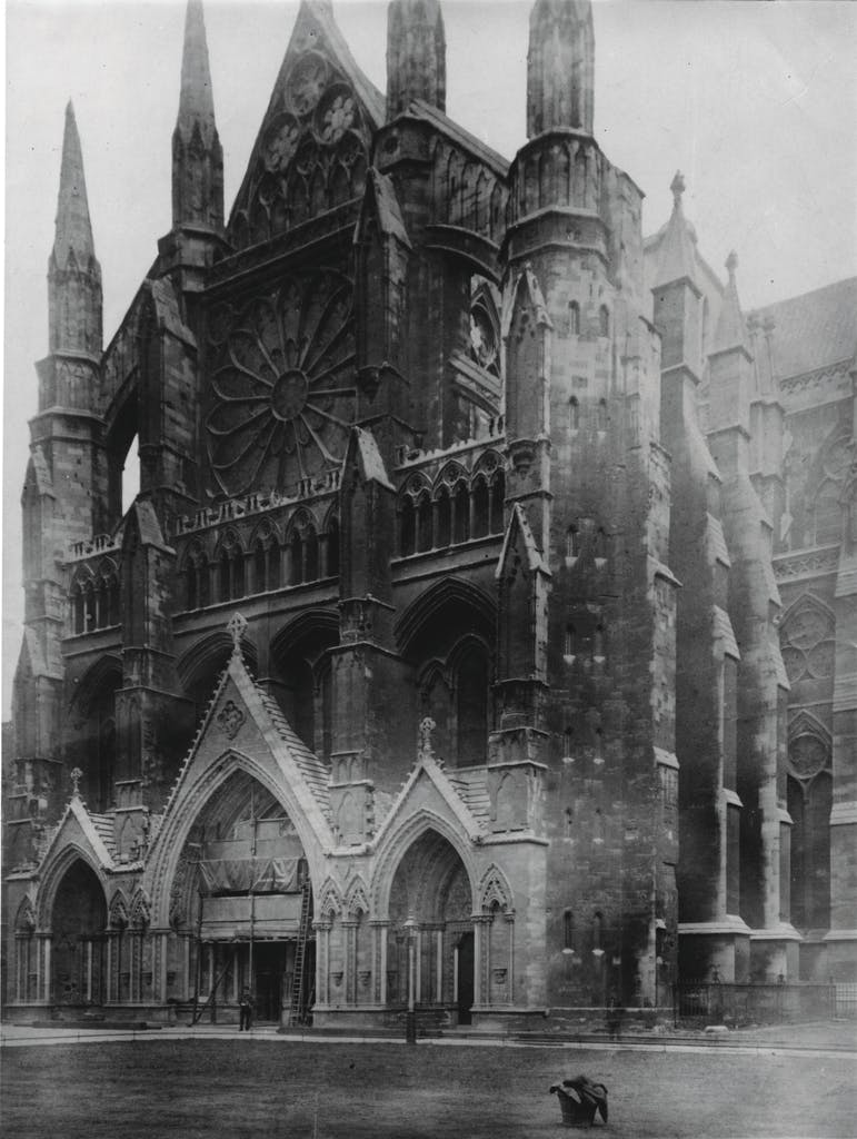 The north transept of Westminster Abbey, c. 1880
