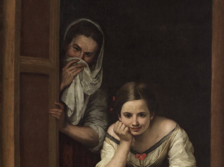 Two Women at a Window (detail; c. 1655–60), Bartolomé Esteban Murillo. Courtesy National Gallery of Art, Washington