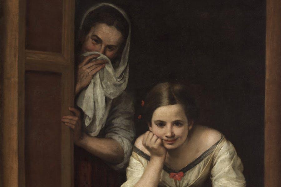 Two Women at a Window (detail; c. 1655–60), Bartolomé Esteban Murillo. Courtesy National Gallery of Art, Washington