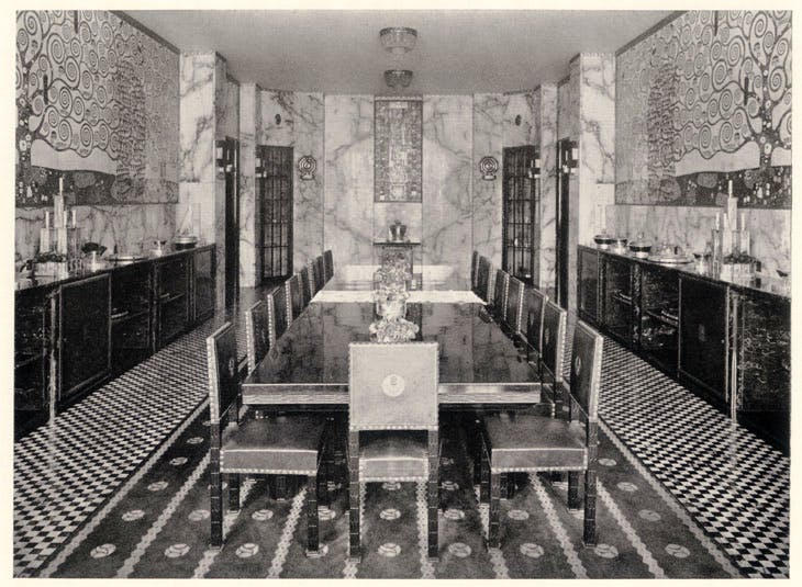 Photography of the dining room at Purkersdorf Sanatorium, 1904. Photo: © MAK