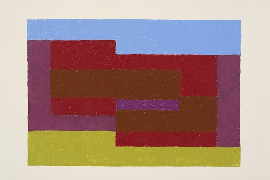 To Mitla (1940), Josef Albers. © 2017 The Josef and Anni Albers Foundation/Artists Rights Society (ARS), New York